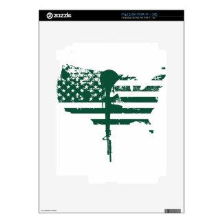 usa flag gun green veteran skins for iPad 2