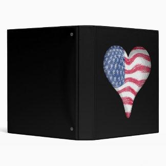 USA Flag Heart Binder