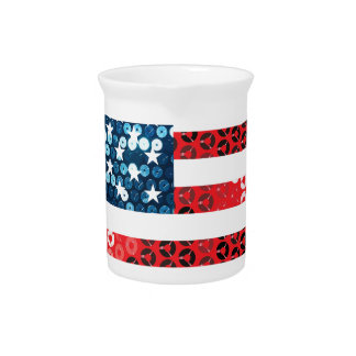 usa flag heart drink pitcher