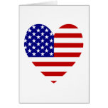 USA Flag Heart Valentine Greeting Card