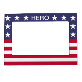 USA FLAG HERO MAGNETIC PICTURE FRAME