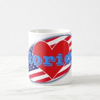 USA flag I Love Florida Coffee Mug