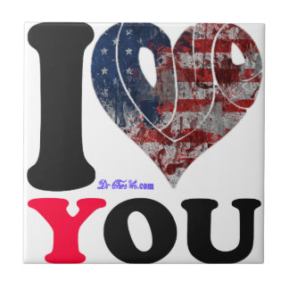 USA FLAG I LOVE YOU CUSTOMIZABLE PRODUCTS TILES