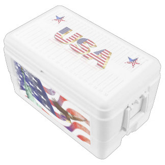 Usa flag ice chest