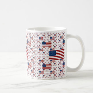 USA Flag in Layers Coffee Mug
