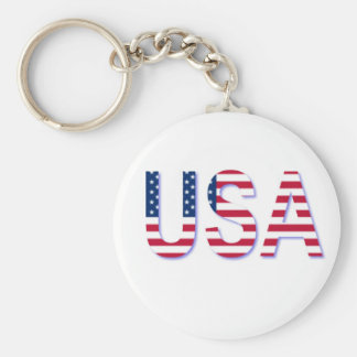USA FLAG IN LETTERING KEYCHAIN