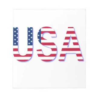 USA FLAG IN LETTERING MEMO PAD