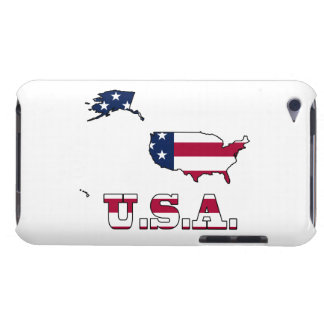 USA Flag in Map iPod Touch Cover