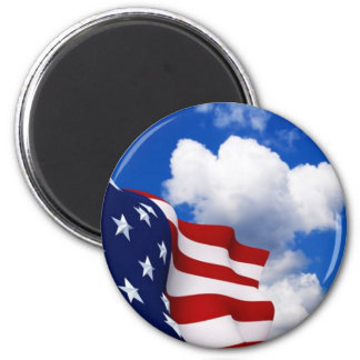 USA FLAG IN THE CLOUDS MAGNET