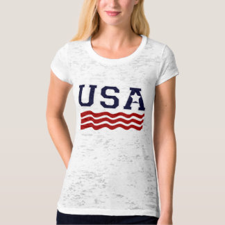 USA Flag INSPIRED Patriotic Tee