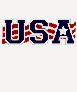 USA Flag INSPIRED Patriotic Tee