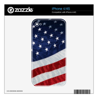 USA Flag iPhone 4 4S Skin Decal For iPhone 4