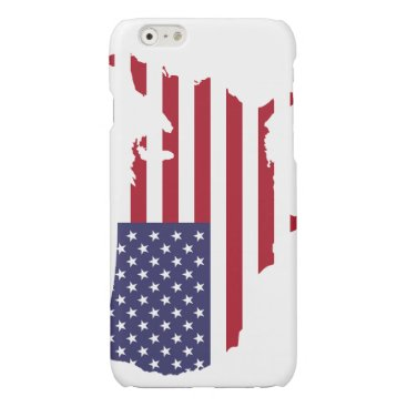 USA flag Glossy iPhone 6 Case