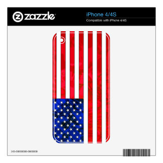 USA FLAG iPhone Skin Decals For The iPhone 4