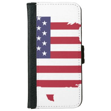 USA flag iPhone 6/6s Wallet Case