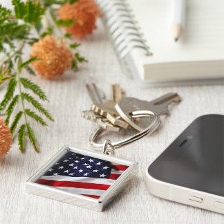 USA Flag Key Chain, Stars,Stripes, Red,White,Blue Keychain