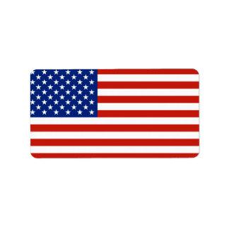 USA flag Label