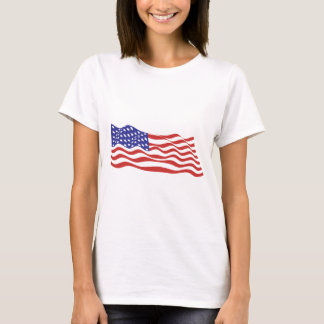 USA Flag Ladies Baby Doll (Fitted) T-Shirt
