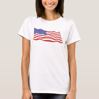USA Flag Ladies Spaghetti Top (Fitted)