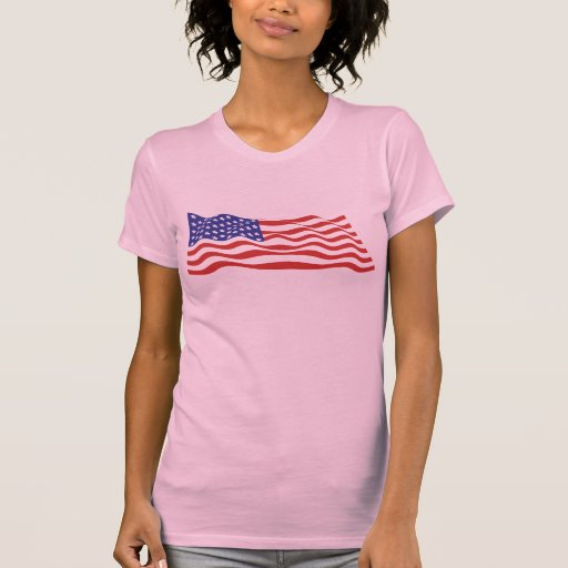 USA Flag Ladies Twofer Sheer (Fitted) Shirt