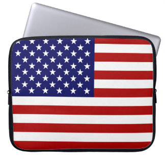 USA Flag Laptop Computer Sleeve