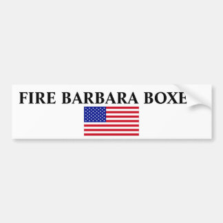 USA-Flag-Large, FIRE BARBARA BOXER! Car Bumper Sticker
