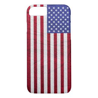 USA FLAG LEATHER iPhone 8/7 CASE