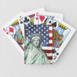 USA FLAG & LIBERTY BICYCLE CARD DECKS
