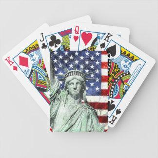 USA FLAG & LIBERTY BICYCLE PLAYING CARDS