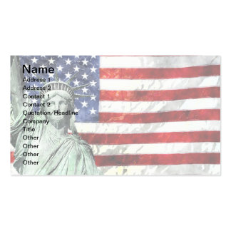 USA FLAG & LIBERTY BUSINESS CARD TEMPLATES