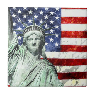 USA FLAG & LIBERTY CERAMIC TILES