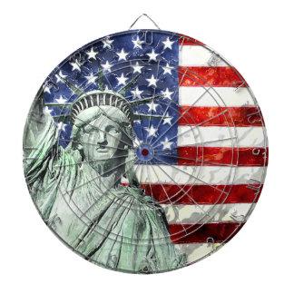 USA FLAG & LIBERTY DARTBOARD