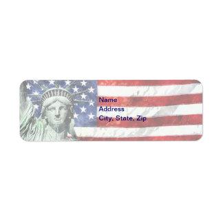 USA FLAG & LIBERTY LABEL