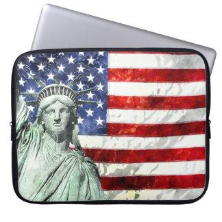 USA FLAG & LIBERTY LAPTOP SLEEVE