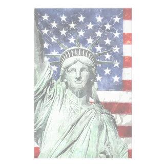 USA FLAG & LIBERTY STATIONERY