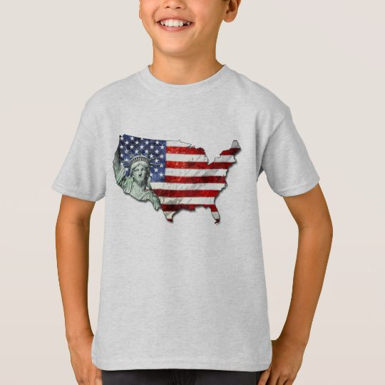 USA FLAG & LIBERTY T-Shirt