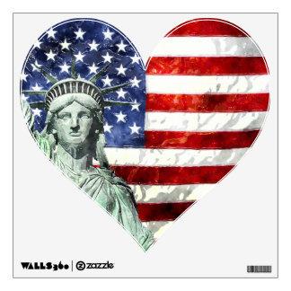 USA FLAG & LIBERTY ROOM GRAPHIC
