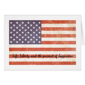 USA Flag Life and Liberty Greeting Card