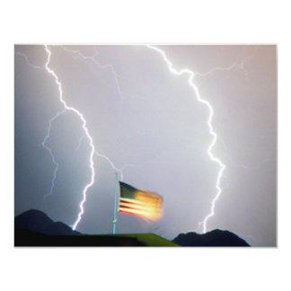 USA Flag Lighting Card