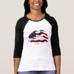 USA Flag Lips Tee Shirt