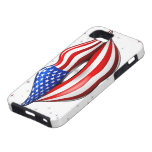 USA Flag Lipstick on Smiling Lips iPhone 5 Case