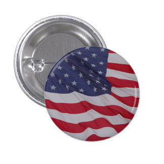 usa flag - long may it wave button