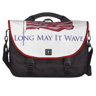 usa flag - long may it wave laptop commuter bag