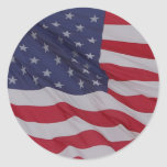 usa flag - long may it wave sticker