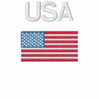USA Flag Long Sleeve Polo