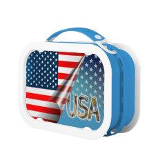 USA Flag Lunch Box