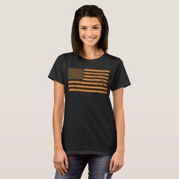 USA Themed USA Flag made out of Pumpkins T Shirt