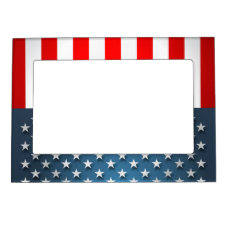 USA Flag Magnetic Photo Frame