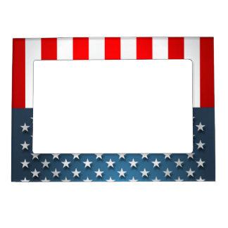 USA Flag Magnetic Photo Frame