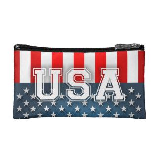 USA Flag Makeup Bag